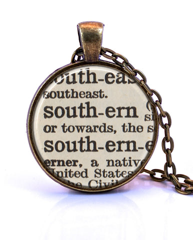 Southern Dictionary Pendant-Small Pendant-Paper Towns Vintage