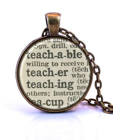 Teacher Dictionary Pendant-Small Pendant-Paper Towns Vintage