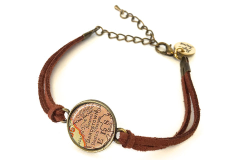 Bardstown, Kentucky Map Bracelet - created from a 1903 Map.
