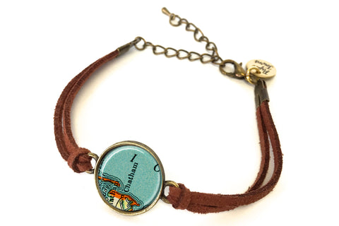 Chatham, Massachusetts Map Bracelet - created from a 1937 Map.
