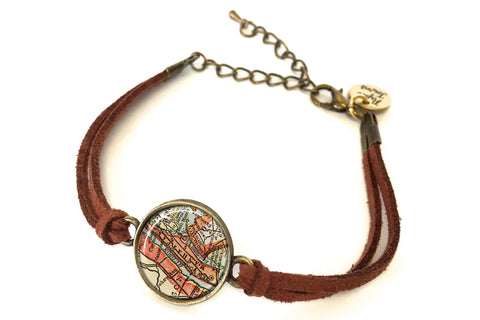 Manhattan, New York Map Bracelet - created from a 1927 Map.