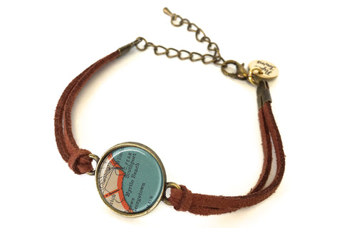 Myrtle Beach, South Carolina Map Bracelet - created from a 1937 Map.