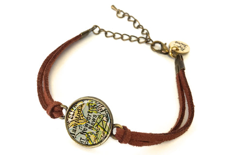 Newport News, Virginia Map Bracelet - created from a 1927 Map.