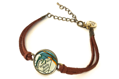 Ocean City, Maryland Map Bracelet - created from a 1937 Map.
