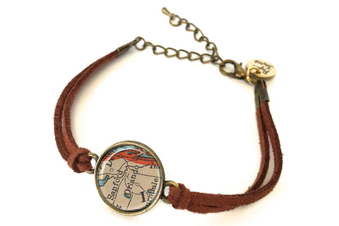 Orlando, Florida Map Bracelet - created from a 1937 Map.
