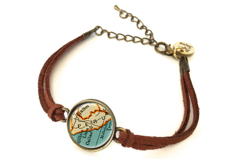 Peru Map Bracelet - created from a 1937 Map.