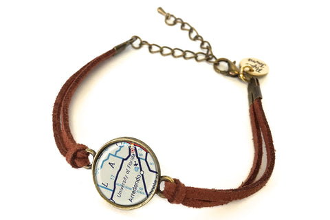 University of Florida Map Bracelet - created from a 1956 Map.