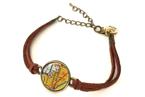 University of Minnesota Map Bracelet - created from a 1956 Map.