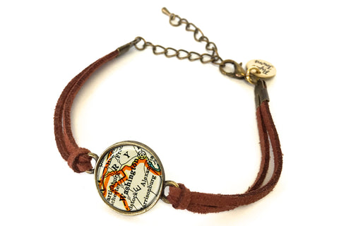 Washington DC Map Bracelet - created from a 1937 Map.