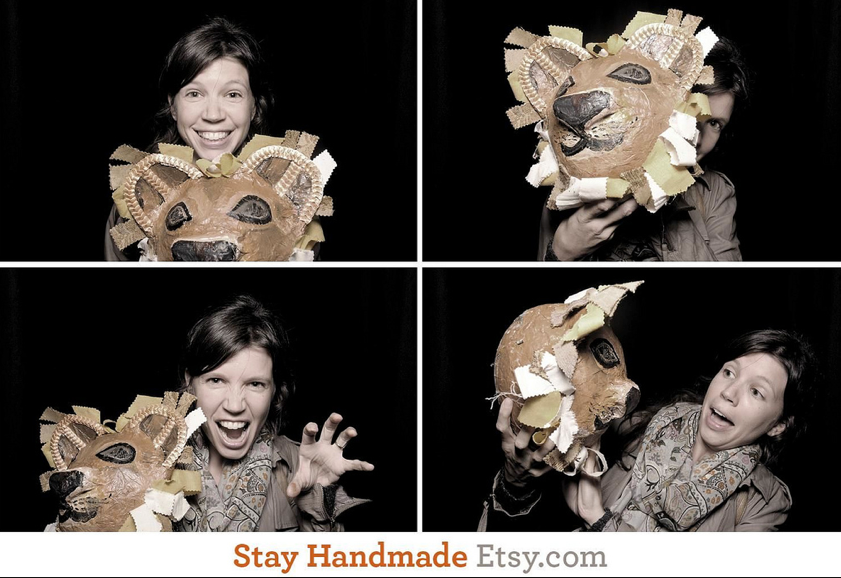 making a lion mask at etsy craft night – Goose Grease