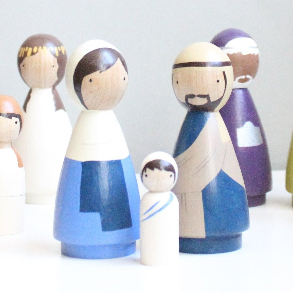 Mary, Joseph, and Jesus - Partial Nativity Set