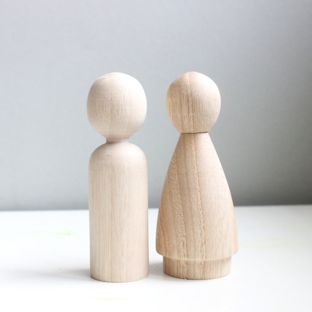 Blank Peg Dolls, Adult Couple Set