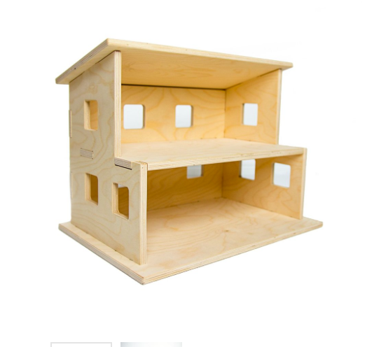 Modular Wooden Dollhouse