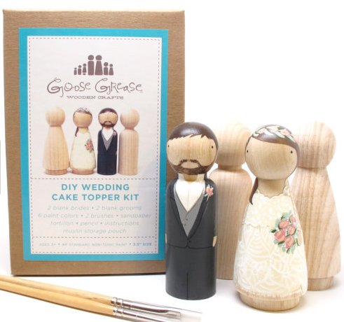 Wedding Cake Topper DIY Kit