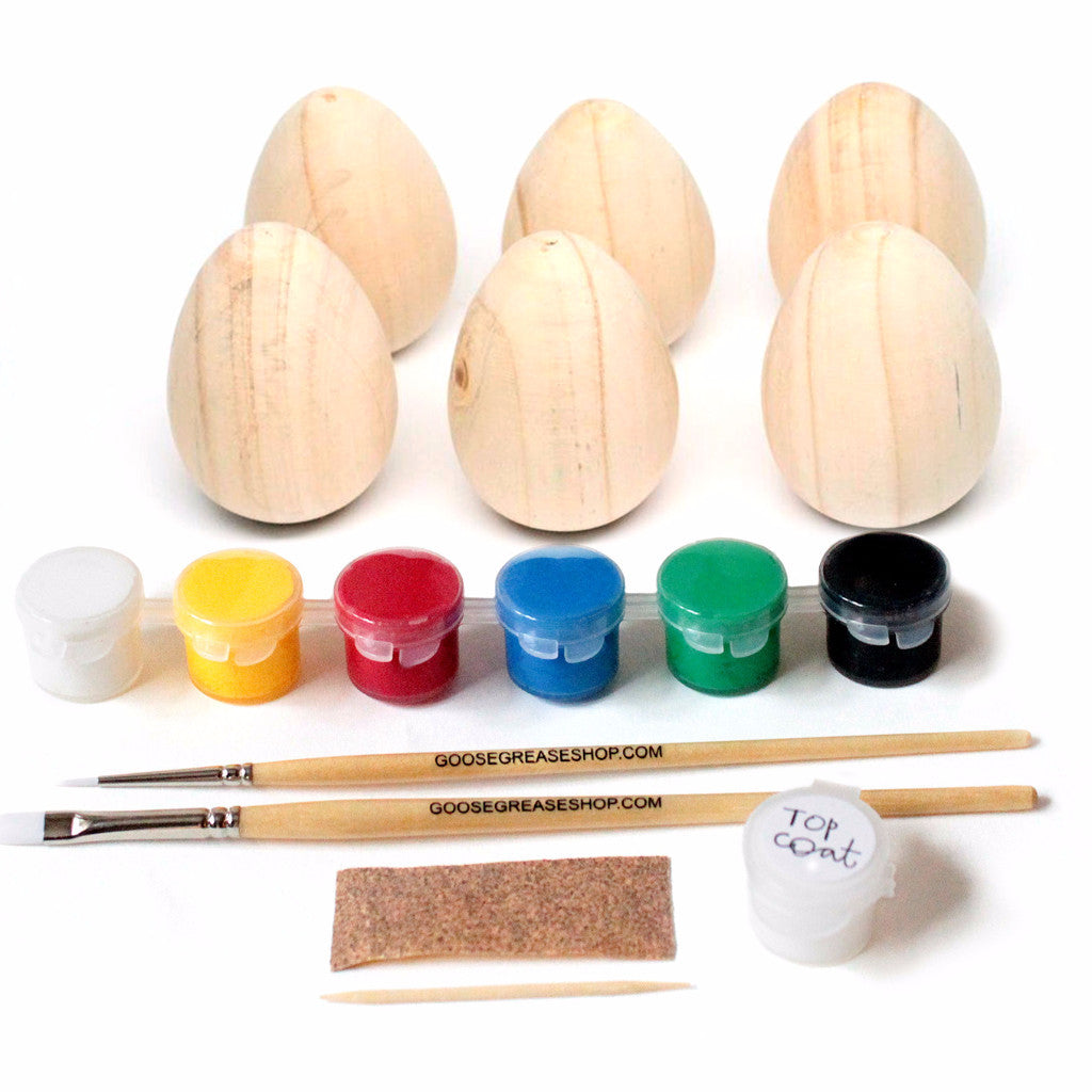 6 Wooden Egg Easter Kit
