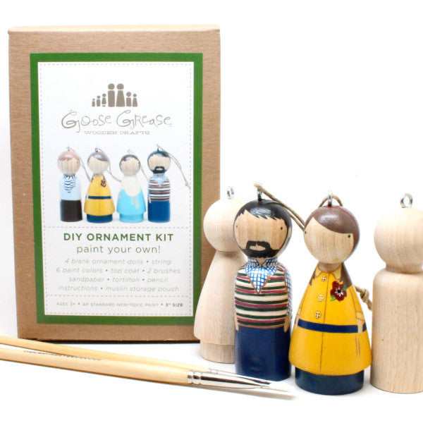 Ornament Peg Doll DIY Kit