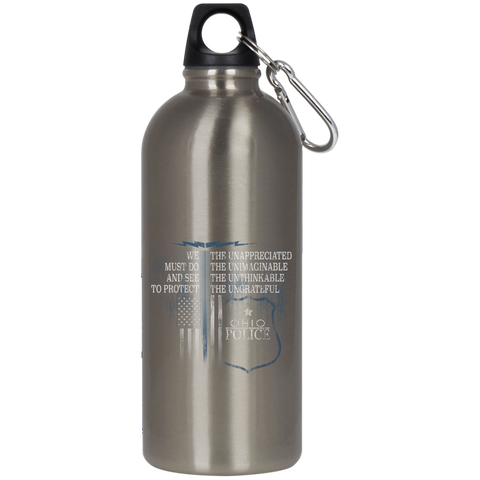 Ohio Police 23624 Stainless Steel Silver Water Bottle