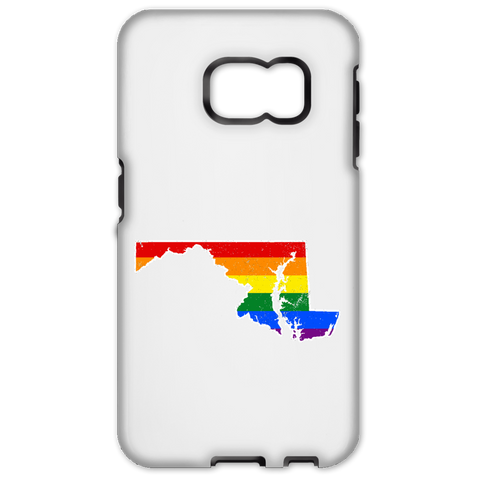 Maryland Rainbow Flag LGBT Community Pride LGBT Shirts  Samsung Galaxy S6 Edge Tough