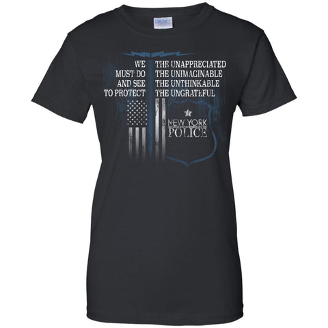 New York Police Police Support Law Enforcement Retired Police  G200L Gildan Ladies' 100% Cotton T-Shirt