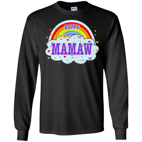 Happiest-Being-The Best Mamaw-T-Shirt  LS Ultra Cotton Tshirt