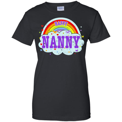 Happiest-Being-The Best Nanny-T-Shirt  Ladies Custom 100% Cotton T-Shirt