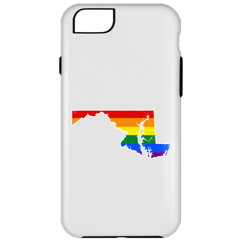 Maryland Rainbow Flag LGBT Community Pride LGBT Shirts  iPhone 6 Plus Tough Case