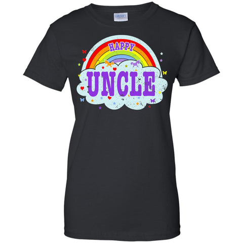 Happiest-Being-The Best Uncle T Shirt Funny Uncle T Shirt  Ladies Custom 100% Cotton T-Shirt
