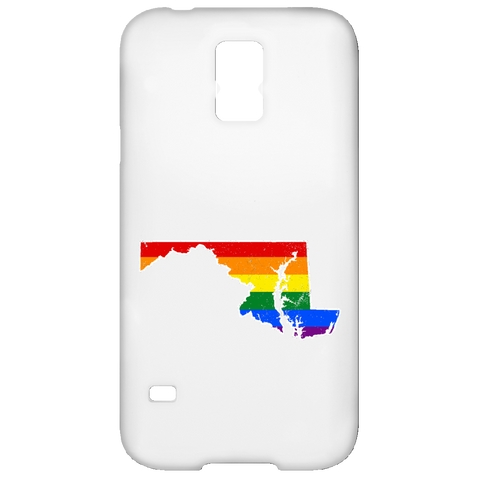 Maryland Rainbow Flag LGBT Community Pride LGBT Shirts  Samsung Galaxy S5 Case