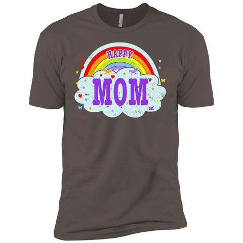 Happiest-Being-The Best Mom-T-Shirt Funny Mom T Shirt  Next Level Premium Short Sleeve Tee