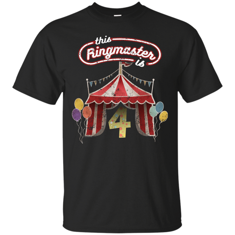 Kids Ringmaster Costume Circus Ringmaster Shirt 4th Birthday Kids