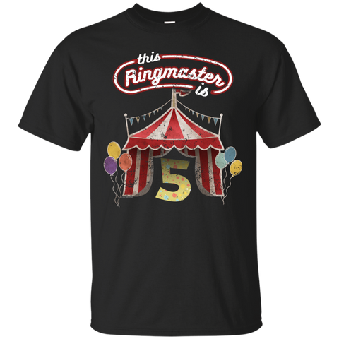 Kids Ringmaster Costume Circus Ringmaster Shirt 5th Birthday Kids