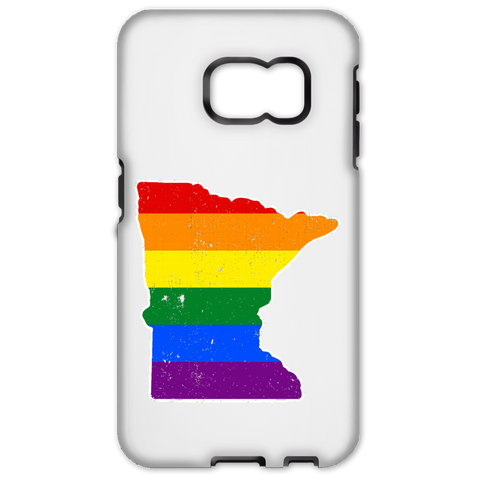 Minnesota Rainbow Flag LGBT Community Pride LGBT Shirts  Samsung Galaxy S6 Edge Tough