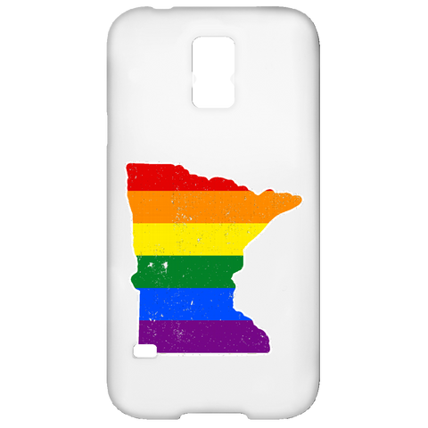 Minnesota Rainbow Flag LGBT Community Pride LGBT Shirts  Samsung Galaxy S5 Case