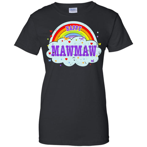 Happiest-Being-The Best Mawmaw T Shirt  Ladies Custom 100% Cotton T-Shirt