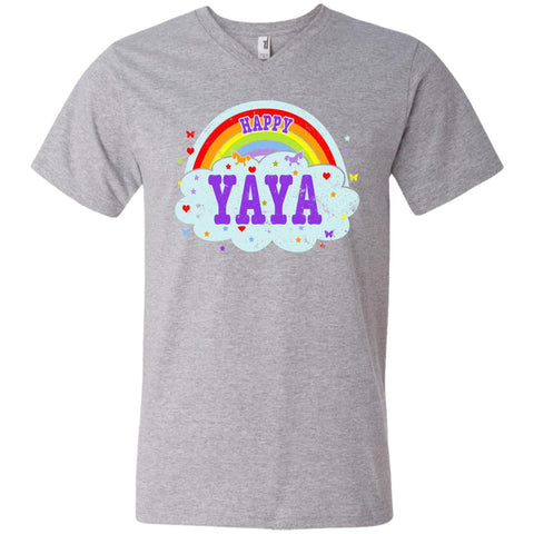 Happiest-Being-The Best Yaya-T-Shirt  Men's Printed V-Neck T