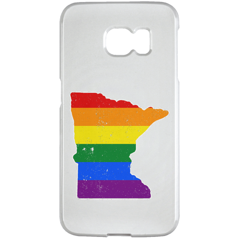Minnesota Rainbow Flag LGBT Community Pride LGBT Shirts  Samsung Galaxy S6 Edge Case