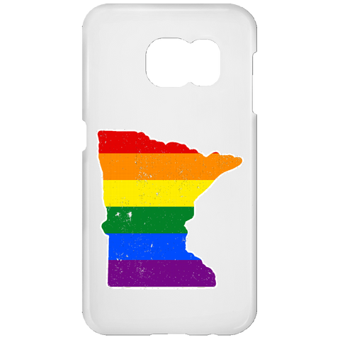 Minnesota Rainbow Flag LGBT Community Pride LGBT Shirts  Samsung Galaxy S7 Phone Case