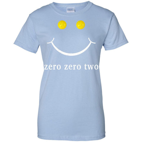 Pickleball Gift Zero Zero Two Pickleball Shirt  G200L Gildan Ladies' 100% Cotton T-Shirt