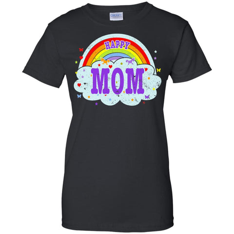 Happiest-Being-The Best Mom-T-Shirt Funny Mom T Shirt  Ladies Custom 100% Cotton T-Shirt
