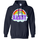 Happiest-Being-The Best Nanny-T-Shirt  Pullover Hoodie 8 oz