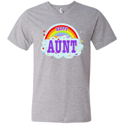 Happiest-Being-The Best Aunt-Shirt Crazy Aunt Shirt  Men's Printed V-Neck T