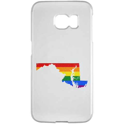 Maryland Rainbow Flag LGBT Community Pride LGBT Shirts  Samsung Galaxy S6 Edge Case