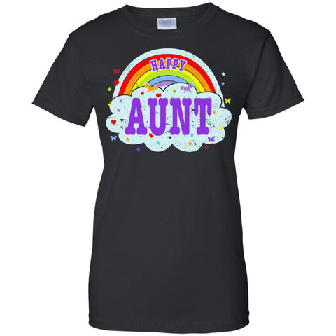 Happiest-Being-The Best Aunt-Shirt Crazy Aunt Shirt  Ladies Custom 100% Cotton T-Shirt