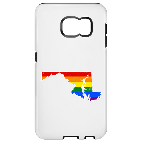 Maryland Rainbow Flag LGBT Community Pride LGBT Shirts  Samsung Galaxy S7 Tough Case