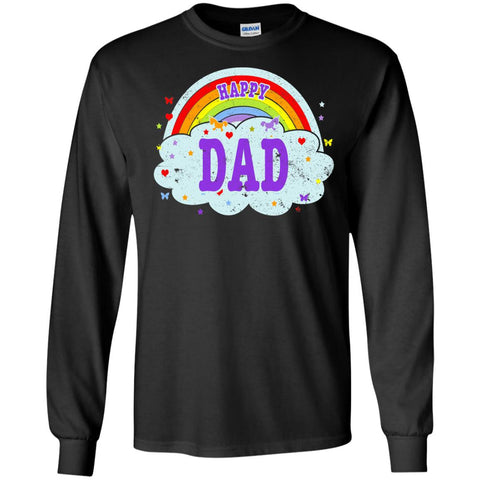 Happiest-Being-The Best Dad-T-Shirt Funny Dad T Shirt  LS Ultra Cotton Tshirt