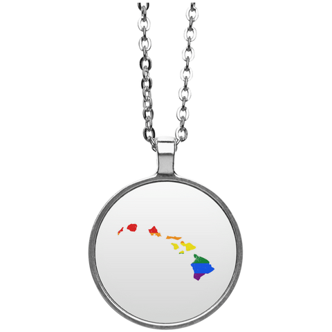 Hawaii Rainbow Flag LGBT Community Pride LGBT Shirts  UN4686 Circle Necklace