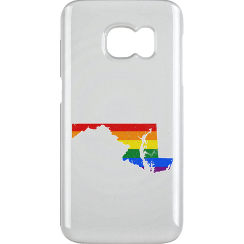 Maryland Rainbow Flag LGBT Community Pride LGBT Shirts  Samsung Galaxy S6 Clip