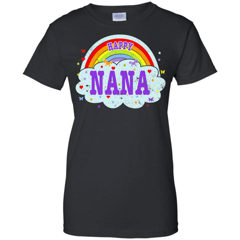 Happiest-Being-The Best Nana-T-Shirt  Ladies Custom 100% Cotton T-Shirt