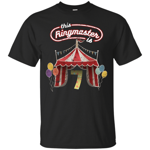 Kids Ringmaster Costume Circus Ringmaster Shirt 7th Birthday Kids