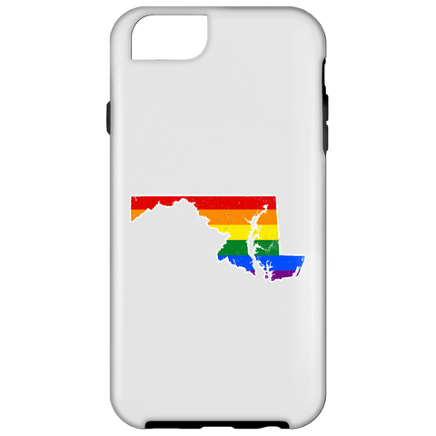 Maryland Rainbow Flag LGBT Community Pride LGBT Shirts  iPhone 6 Tough Case